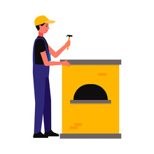 Repairman Or Master Of Household Appliances Flat Vector Illustration Isolated.