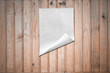 canvas print picture paper on wooden wall