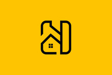 Logo Design Of H HH In Vector For Construction, Home, Real Estate, Building, Property. Creative Elegant Monogram. Premium Business Home Logo Icon.