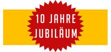 10 Jahre Jubiläum Web Sticker...