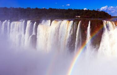 Largest waterfall Garganta del Diablo on Iguazu River, Iguazu National Park, Argentina.