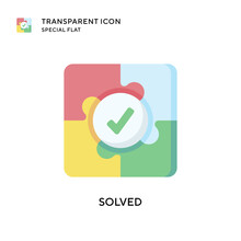 Solved Vector Icon. Flat Style...