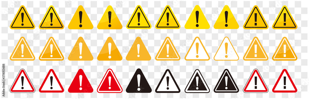 Fototapeta warning sign icon vector triangle