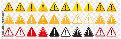 Foto warning sign icon vector triangle