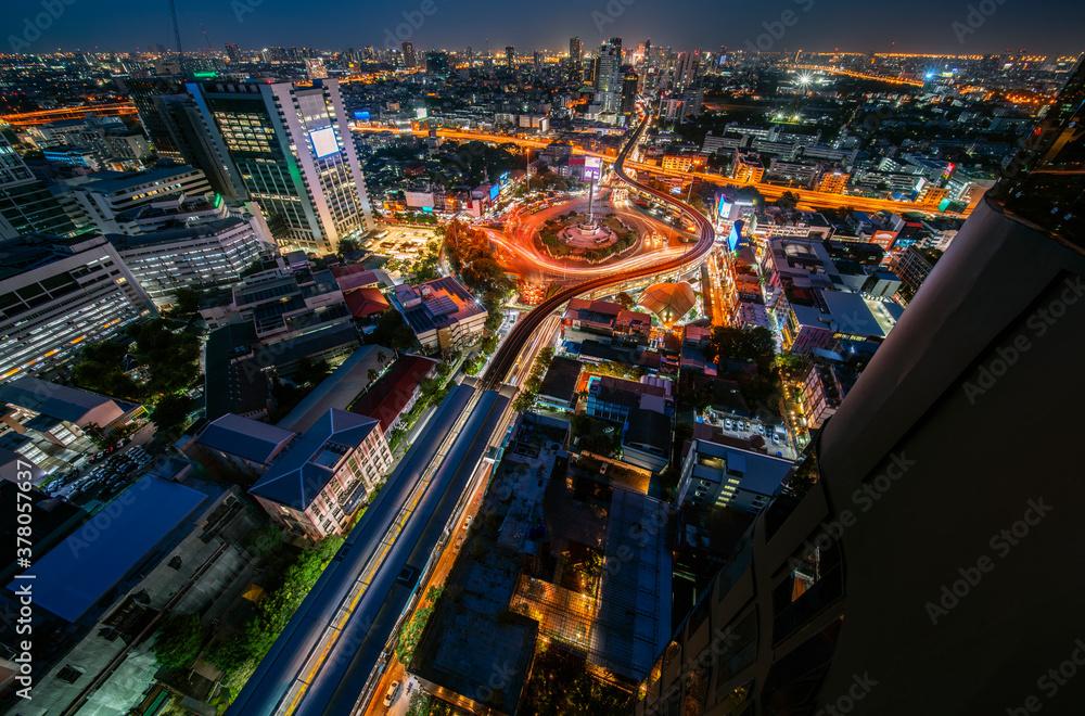 Fototapeta Victory monument Thailand in Bangkok city