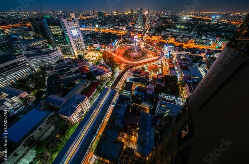 Fototapeta Victory monument Thailand in Bangkok city obraz