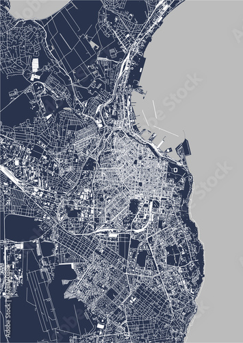 map of the city of Odessa, Odessa Oblast, Ukraine Wallpaper Mural