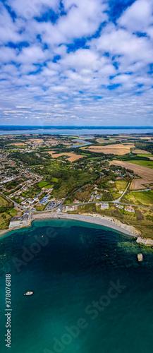Valokuva Aerial panoramic view of Isle of WIght