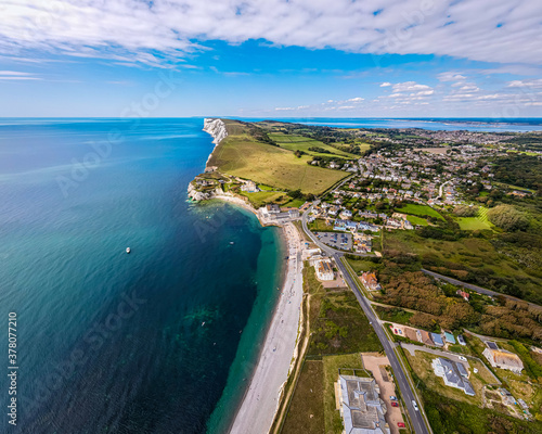 Obraz na plátně Aerial panoramic view of Isle of WIght