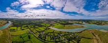 Aerial Panoramic View Of Newtown Of Isle Of Wight