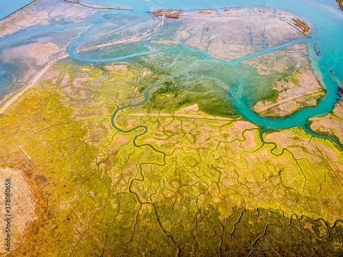 Obraz na plátne Aerial panoramic view of Newtown of isle of Wight