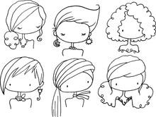 Vector Cartoon Beauty Hairstyl...