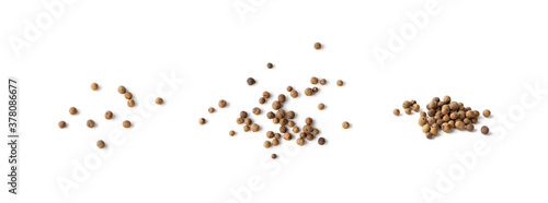 Fotografie, Obraz Pile of Allspice, Jamaica Pepper or Myrtle Pepper Isolated