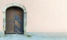 Altes Holztor Darin Tür, Vers...