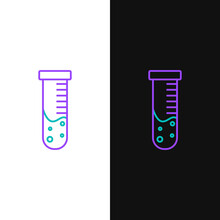Line Test Tube And Flask Chemi...