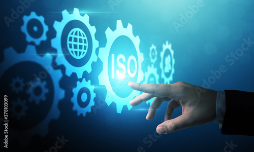 Fotomural Concept of ISO standards quality control assurance warranty business technology