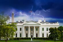 Storm Moody Sky Over White Hou...
