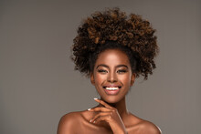 Beauty Portrait Of Woman With Afro