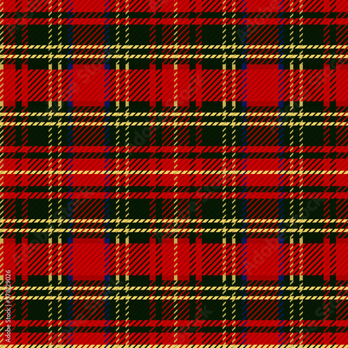 Photographie Cute punk red plaid vector seamless pattern