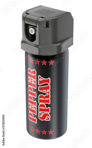 Fototapeta Pepper spray bottle can isolated on white background - 3D illustration obraz
