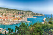 Aerial view of the Port of Nice, Cote d'Azur, France