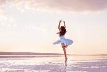 Girl Ballerina In A Ballet Dre...