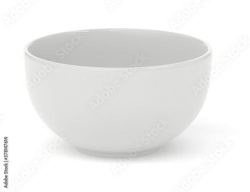Valokuva White ceramic bowl 3d rendering