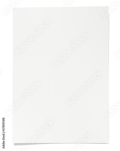 Valokuva Blank paper sheet 3d rendering