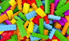 Toys Bricks Colorful Backgroun...