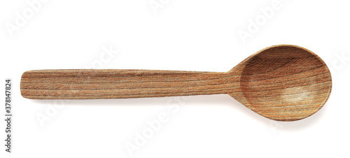 Wooden spoon isolated on white 3d rendering Fototapet