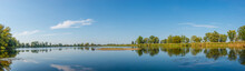 Panoramic View Over A Lake Nea...