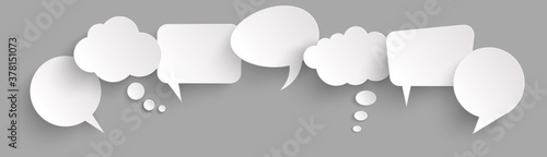 Canvas Print sticker speech bubbles with shadow