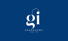 Alphabet Letters Initials Monogram Logo GI, IG, G And I