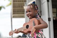 Smile African Girl Play Guitar...