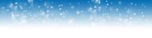 Hintergrund Mit Schneeflocken Vor Blauem Himmel