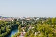 Bern, Aare, Kornhausbrücke, Fluss, Altstadt, Stadt, Altstadthäuser, Aussichtspunkt, Nydegg, Rosengarten, Sommer, Schweiz