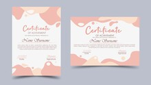 Certificate With A Cute Pastel...