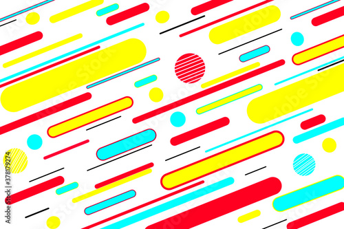 Papel de parede Memphis pattern colors abstract vector design, colorful geometric background