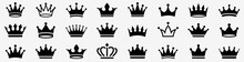 Crown Icon Set. Crown Sign Collection. Vector