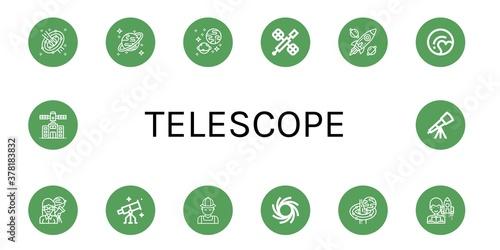 Foto Set of telescope icons