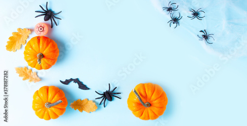 Fototapeta Halloween flat lay background obraz
