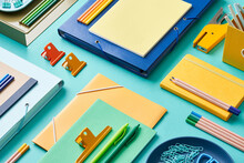 Set Of Vivid Modern Stationery