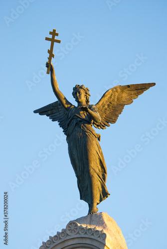 Angel figure on the monument to the sailors of the battleship Rusalka, Tallinn Wallpaper Mural