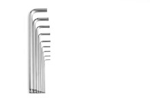 Set Of Long Hex Keys On A Whit...