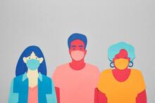 People Wearing Facials Masks F...