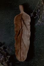 Wood Carved In Leaf