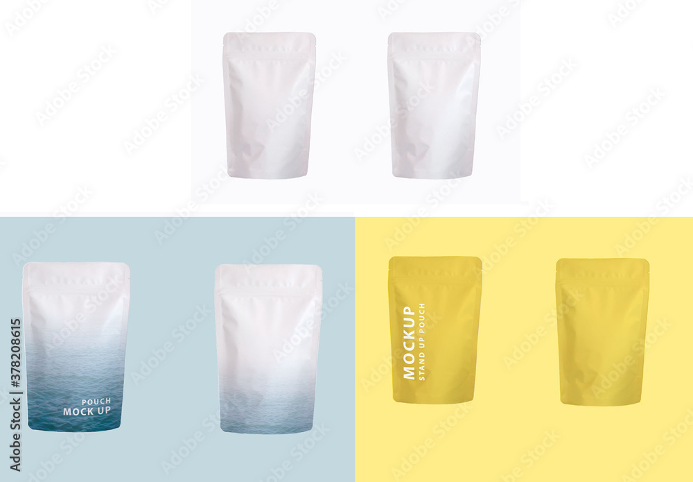 Fototapeta Stand Up Pouch Mockup Front and Back