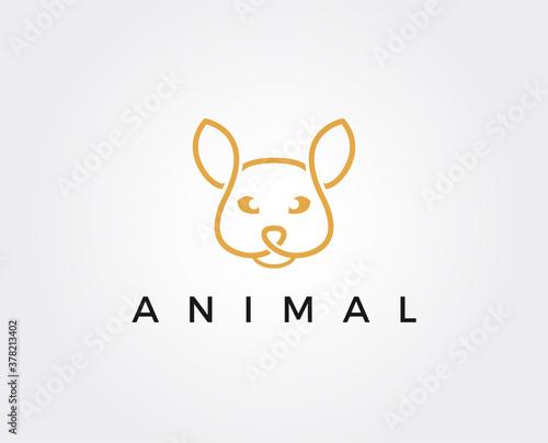 Fotografie, Tablou minimal wild cat logo template - vector illustration