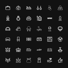 Editable 36 Luxury Icons For Web And Mobile