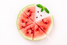 Watermelon Pizza Slices With M...